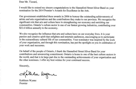 Nomination Recognition Letter